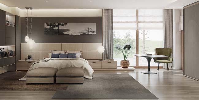 Mẫu phòng ngủ đẹp hiện đại 2016